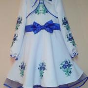 Святкова сукня на дівчинку Квітковий букет фото