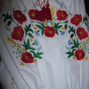 """Вышиванка для девочки """"Полевые цветы"""""""