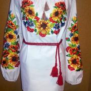 """Вышитое платье """"Подсолнухи Ван Гога"""" на заказ"""