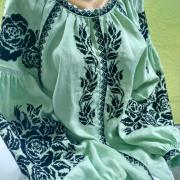 Вышитая женская блузка Мята купить