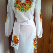 """Жіноча вишита сукня """"Квіти сонця"""" фото"""