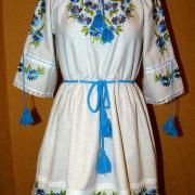 """Купити жіноче вишите плаття """"Волошкове поле"""""""