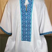 ФотоВышитая мужская сорочка на льне