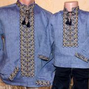 Парні вишиванки для сина і батька  фото