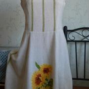 """Украинское платье """"Подсолнухи"""" ручная работа"""