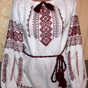 Женская вышиваночка украинская крестиком