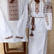 """Вишита сорочка і плаття для пари """"Благополуччя"""" фото"""