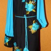 """Купити жіноче вишите плаття """"Блакитний топаз"""""""