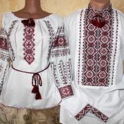 """Парные вышиванки для мужчины и женщины """"Традиции"""" фото"""