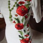 """Авторское вышитое платье """"Маковая магия"""" купить Киев"""