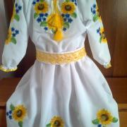 "Дитяче вишите плаття ""Сонячна квітка"" фото"