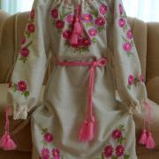 """Дитяче вишите плаття """"рожеві ромашки"""" купити"""