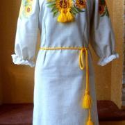 """Вишите український плаття """"Соняшники як сонце"""" фото"""