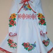 """Нарядное детское платье """"Разноцвет"""" фото"""