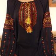 Чорна шифонова вишиванка жіноча купити Київ