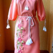"""Вишите українське плаття """"рожеві мрії"""" купити"""