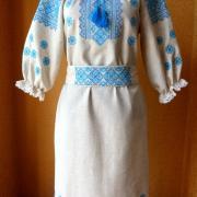 """Вышитые украинское женское  платье """"бирюза"""" купить"""