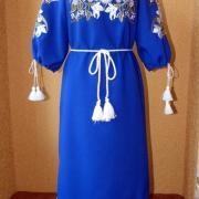 """Українське плаття з вишивкою """"дика лілія"""" на замовлення"""