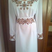"""Жіноча вишита сукня """"Символіка""""  замовити"""