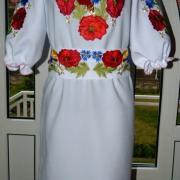 """Жіноча вишита сукня """"Ранкові маки"""" фото"""