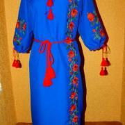 """Українське плаття вишиванка """"Мрійлива троянда"""" купити"""