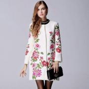 Вышитое женское кашемировое пальто Розы фото