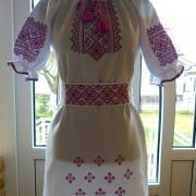"""Женское вышитое платье """"вишневый цвет"""" фото"""