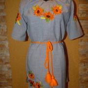 """Вишите українське плаття """"сонячні квіти"""" купити"""