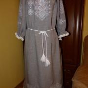 """Вышитое украинское платье """"Снег"""" фото"""