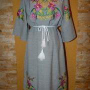 """Вишите українське плаття """"Поле льону"""" купити"""