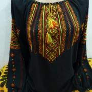 Замовити чорну шифонову блузку Київ.