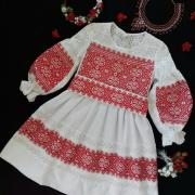 """Нарядное платье с вышивкой на девочку """"Ария"""" фото"""