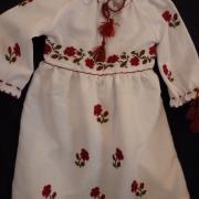 Дитяче плаття вишиванка з трояндочками фото