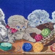 Вышитый крестом коврик купить Киев