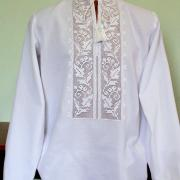 "Мужская вышитая рубашка ""белоснежная гладь"" заказать"