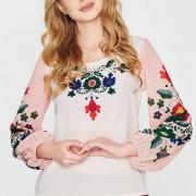 Яркая женская блуза с орнаментом фото