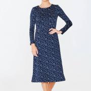 Елегантне принтоване плаття з трикотажу фото