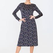 Элегантное платье с черного трикотажа фото