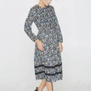 Принтованное платье из фактурного шифона фото