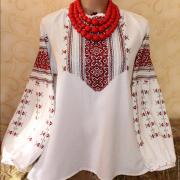 """Белая женская вышиванка """"Ярина"""" фото"""