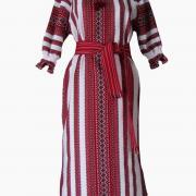 Українське плаття з вишитої декоративної тканини