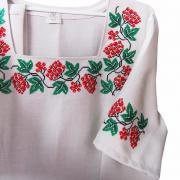 Замовити українські вишиті сукні з червоною калиною