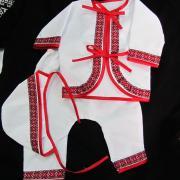 Набор для крещения ребенка с вышивкой