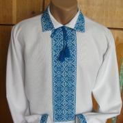 Украинская вышиванка мужская с орнаментом