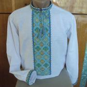Вышиванка украинская мужская с вышитым тризубом