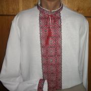 Рубашка мужская вышиванка ромбы