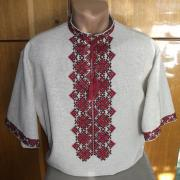 Чоловіча вишиванка з коротким рукавом Київ