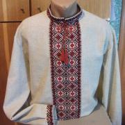 Мужская вышиванка на льне Киев