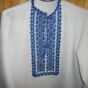 Мужская вышиванка голубая Киев