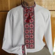 Украинская вышиванка с ручной вышивкой для мужчин